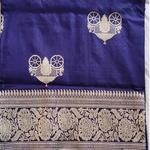 Blue Benarsi Silk Saree