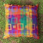 Geometrical Woven colorful Cushion Cover (set Of 2)