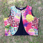 Printed Floral Cotton Waistcoat