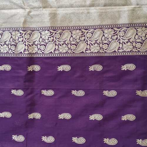 Purple Benarsi Saree by Islam Saree & Silks