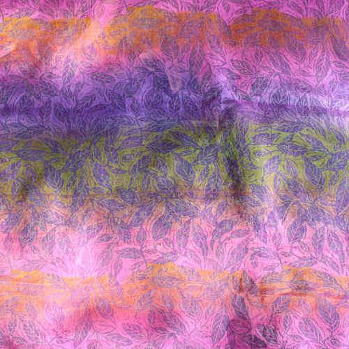 Leaf Printed Multi Colored Silk Chanderi DupattaOdhini