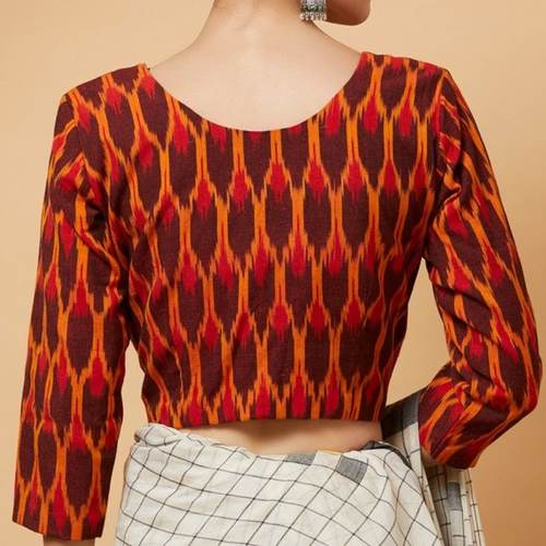 Ikat Cotton Patch Blouse