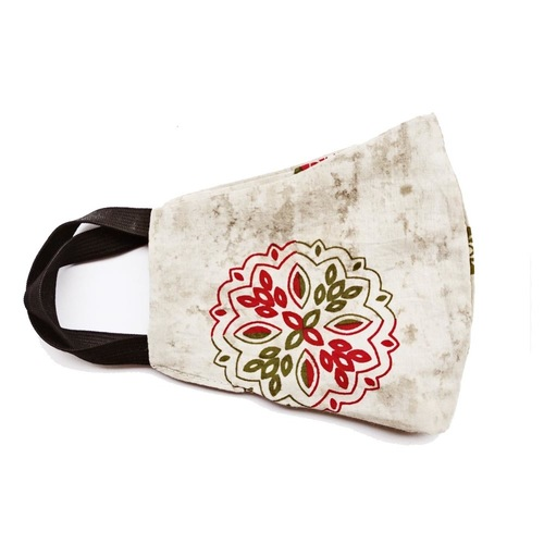 Pack of 4 Reusable Dabu Print Cotton Mask