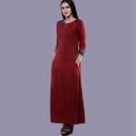 Maroon Kantha Dress