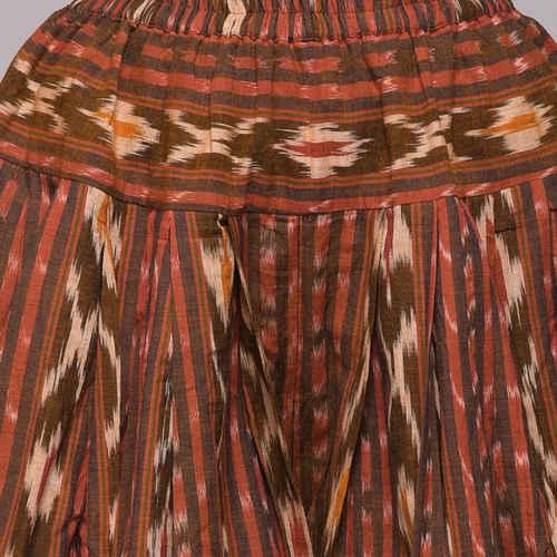 Cotton Ikat Pleated Patiyala Pant