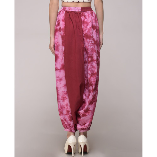 Maroon Tie Dye Harem Pants
