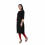 Black Cotton silk Kurta