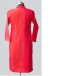 Pink Shaded Silk Chanderi Yoke Kurta