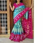 Pink Blue Handloom Silk Saree by  B. Anjan Dasu
