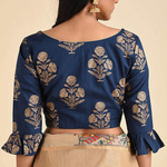 Blue Printed Cotton Blouse