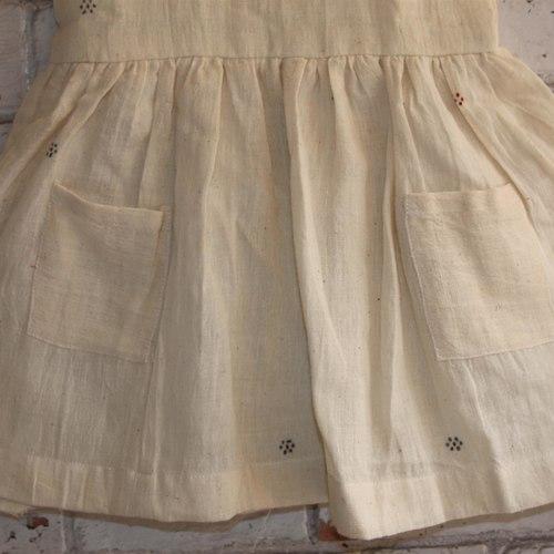 Beige  Handloom Kala Cotton Dress