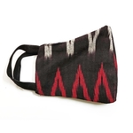 Pack of 4 Reusable Black Ikat Handloom Mask