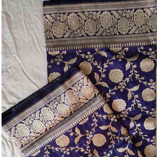Purple Benarsi silk Saree
