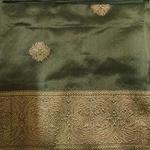 Olive Green Benarsi Silk Saree