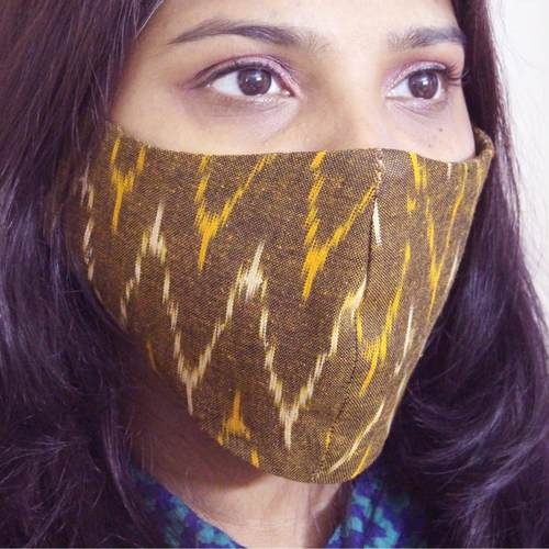 100 Cotton Ikat Reusable Mask Pack of 4