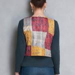 Vintage Silk Kantha Butterfly Jacket