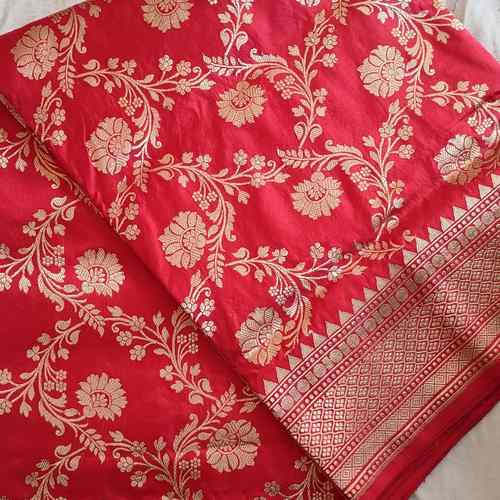 Red Benarsi Silk Saree