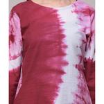 Maroon Tie-dye  Wave Tunic