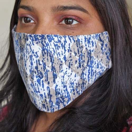 Pack of 4 Reusable Dabu Print Cotton Mask