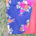Blue Floral Printed Waist Coat