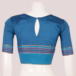 Handcrafted Princess Cut Silk Blouse With Pintuck Stitches