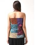 Vintage Kantha Halter Neck Silk Jacket