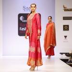 Silk Chanderi Embroidered Kurta with pant Set of 2