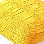 Yellow Cotton Lurex Gathered Cushion cover-18x18