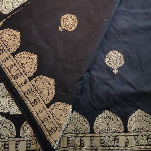 Black Benarsi Silk Saree