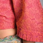 Pink Printed Chanderi
