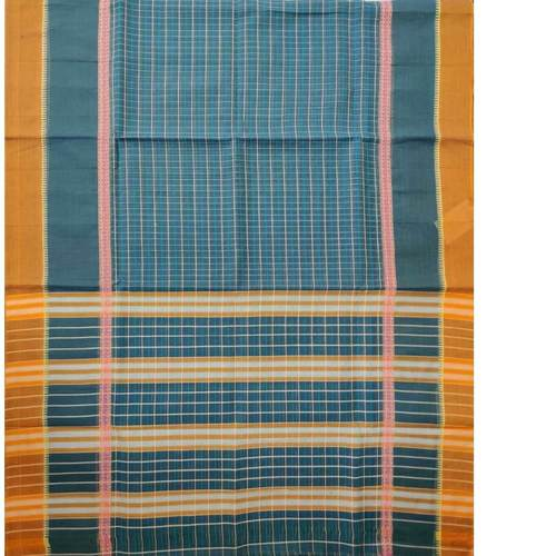 Orange Border Nrayanpet Cotton Handloom saree