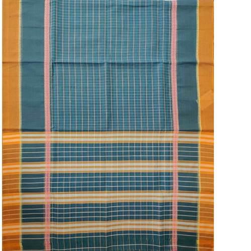 Orange Border Nrayanpet Cotton Handloom saree