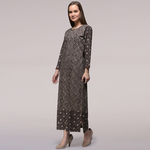 Grey Dabu-printed Cotton Patch Dress
