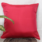 "Fushia Yellow Brocade Patch Cushion Cover (16""x16"")"