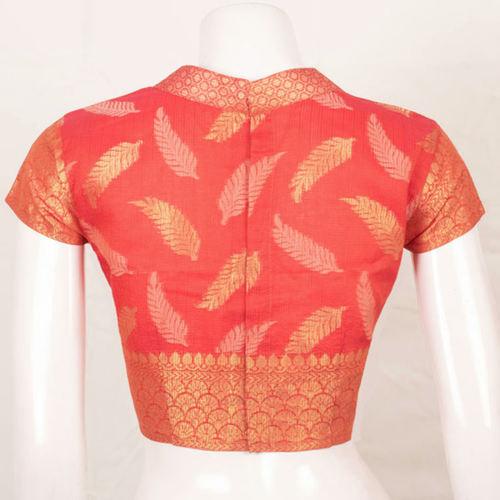 Red Benarsi Zari Silk Blouse