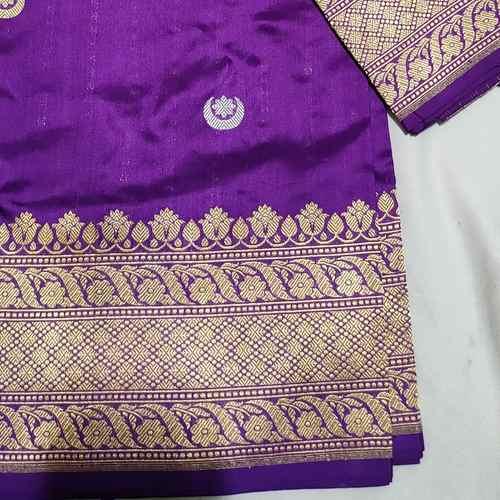 Purple Handloom Benarsi Silk Saree