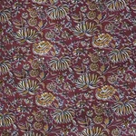 Red Floral Printed Fabric
