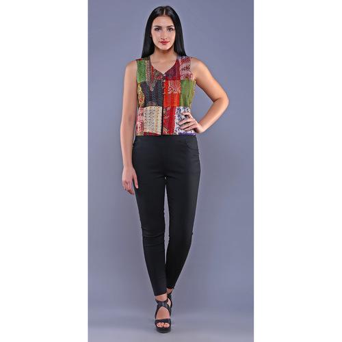 Vintage Silk Kantha Waist Coat