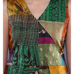 Vintage Kantha Pointed Peplum Top
