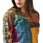 Vintage Silk Kantha Peplum with Harem Pant (Set of 2)