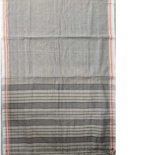 Grey Narayanpet Handloom Cotton Saree