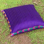 Silk Cushion Covers with Kantha and Embroidery (Set Of 2)