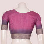 Handcrafted Silk Blouse With Brocade Design