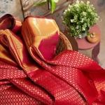 Red Kanchipuram blended silk Saree