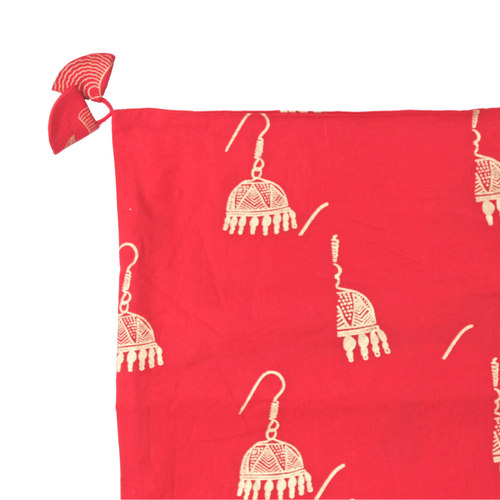 Red Gold Printed Indian Ethnic Cushion Covers Set of 2