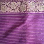 Magenta Benarsi Silk Saree