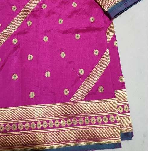 Pink Benarsi Silk Saree
