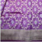 Lavender Benarsi Silk Saree by Destitute Lok Kalyan Silk Bunkar