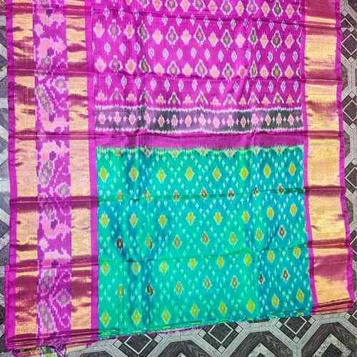 Magenta Pochampalli Silk Saree by B. Yeswanth