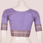 Handcrafted Silk Blouse With Zari Patches, Stripes Design